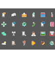 Mobile services stickers set vector image vector image