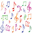 music notes and signs set musical symbol sketch vector image vector image