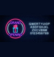 neon new store grand opening gift sign in circle vector image