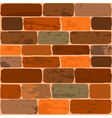 of a brick wall vector image vector image