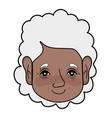 Old woman face with hairstyle and expression