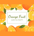 orange fruit juicy and tasty banner template
