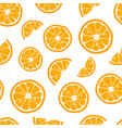 oranges seamless pattern with citrus background vector image