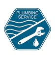 plumbing service symbol for business vector image vector image