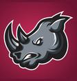 rhino head africa icon 02 vector image
