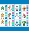 robot industry collection vector image vector image