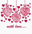 Romantic valentine day hand drawn background with vector image