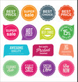 sale stickers and tags colorful collection 2 vector image vector image