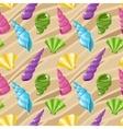 Seamless seashell background vector image vector image