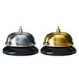 service bells 3d realistic vector image vector image