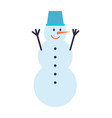snowman winter character vector image