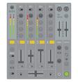 sound dj mixer vector image vector image