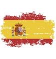 Spanish grunge flag vector image vector image