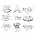 Special Occasion Hand Drawn Invitation Set vector image