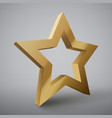 star with lights isolated vector image