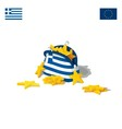 The economic crisis in Greece vector image