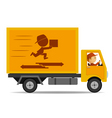 truck delivery vector image