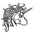 Unicorn fantasy vector image vector image