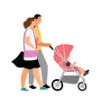 walking with bastroller vector image vector image