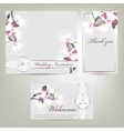 Wedding invitation with floral vector image vector image