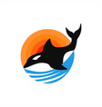 whale ocean logo vector image
