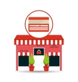 cute store shopping card vector image