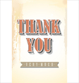 Retro poster background Thank you vector image