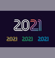 2021 line colored number vector image