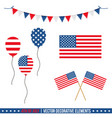 4th of july decorative elements vector image vector image