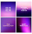 abstract purple blurred background set 4 vector image vector image