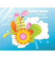 Abstract spring background vector image vector image
