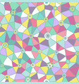 abstract triangles pattern honeycomb grid vector image vector image