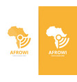 africa and wifi logo combination safari vector image vector image