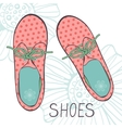 An of fashionable girl shoes vector image vector image