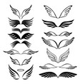angel wings set hand drawn sketch on white vector image vector image