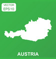 austria map icon business concept austria vector image vector image