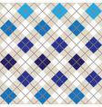 blue argyle harlequin seamless pattern vector image vector image