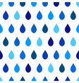 Blue Tone Rain White Background vector image vector image