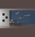 book cafe minimalistic interior realistic vector image vector image