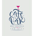 Cafe Bar Restaurant Lounge logotype vector image