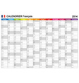 Calendar 2014 French Type 12 vector image vector image