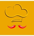 Chief hat with pepper mustache vector image vector image
