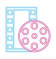 cinema movie neon vector image