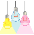 Colorful light bulbs vector image vector image