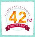 colorful polygonal anniversary logo 3 042 vector image vector image