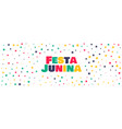 colorful stars banner for festa junina vector image vector image