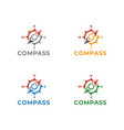 compass logo template design vector image