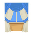 curtains on window biedermaier fashion style vector image vector image
