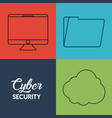 cyber security design vector image