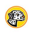 dalmatian dog mascot vector image vector image